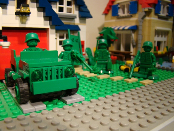 Green Army Men at home
